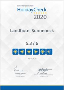 HolidayCheck Bewertung Landhotel Sonneneck Breuna April 2020 sehr gut
